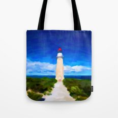 The Lighthouse - Painting Style Tote Bag