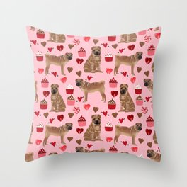Sharpei valentines day love cupcakes hearts dog breed gifts pet friendly sharpei dogs Throw Pillow