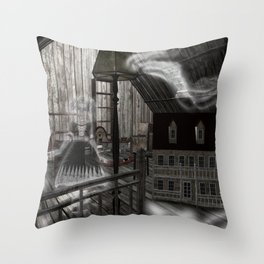 Toys in the Attic Haunted Throw Pillow