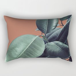 Ficus Elastica #17 #AutumnLeaf #foliage #decor #art #society6 Rectangular Pillow