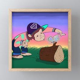 Dubious Paul Smokes a Fatty Framed Mini Art Print