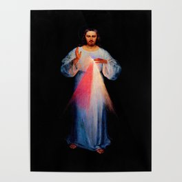 Kazimirowski  and Kowalska- The image of merciful Jesus Poster