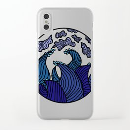 Stormy Waves Clear iPhone Case