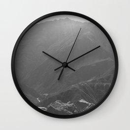 Top of the Rockies B&W Wall Clock