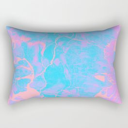 Pink and Blue Marble Rectangular Pillow