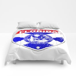 Florida Interstate Sign Comforters