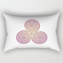St. Patrick's Day Celtic Red Triskelion #2 Rectangular Pillow