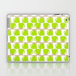 Green Cat Pattern Laptop & iPad Skin