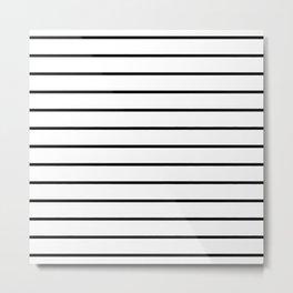 Minimalist Stripes Metal Print