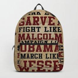 Dream like Martin. Vintage poster art illustration. Backpack