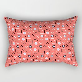 Memphis Tribes - Coral Rectangular Pillow