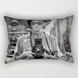 Selfie at tiffany's Rectangular Pillow