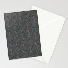 Tribal Teal Feather Stationery Cards