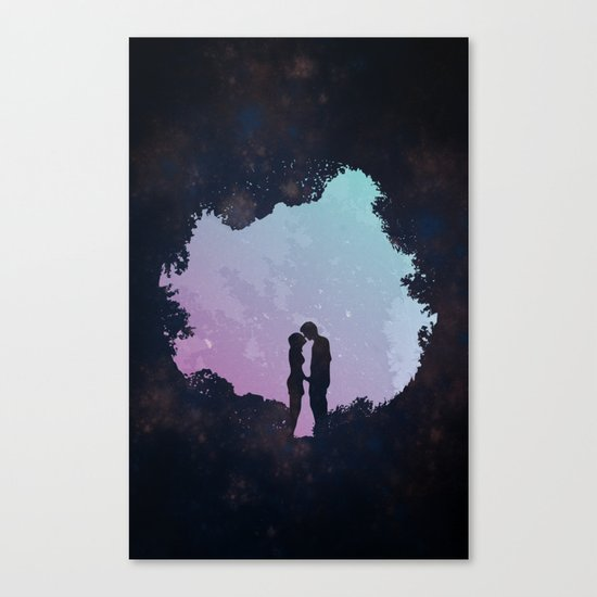 Edge of the Moonlight Canvas Print