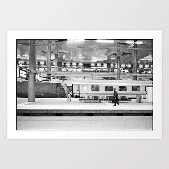 Lonely Traveller Art Print