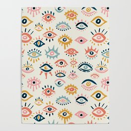 Mystic Eyes – Primary Palette Poster