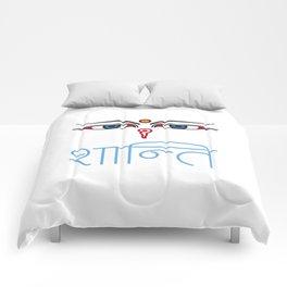 Shanti - buddha eyes Comforters
