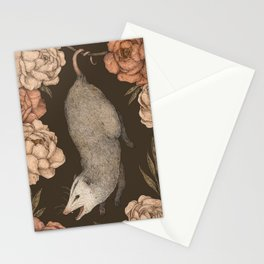 The Opossum and Peonies Stationery Cards