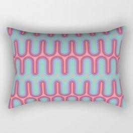 70s Geometric Design - Early 90s Palette Rectangular Pillow