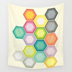 Honeycomb Layers Wall Tapestry