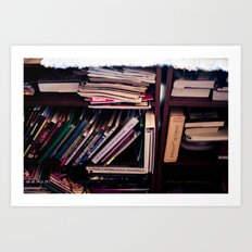And then there were books Art Print