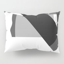 Matisse Inspired Black and White Collage Pillow Sham
