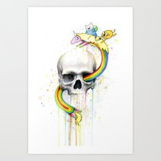 Adventure through Time and Face Art Print