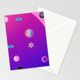 abstract fantasy world Stationery Cards
