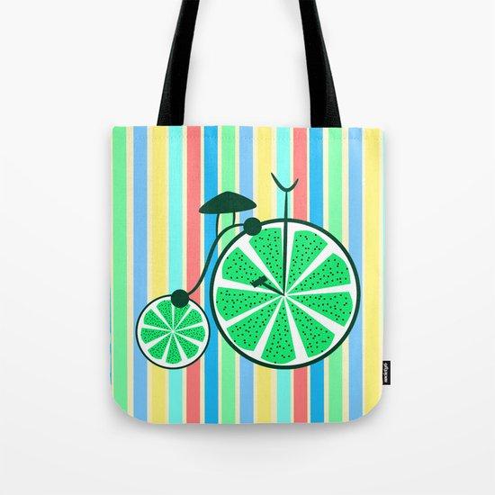 Kiwi ride Tote Bag