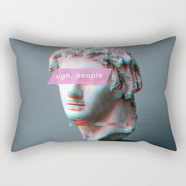 Ugh People Statue Rectangular Pillow