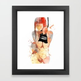 Shibari - Japanese BDSM Art Painting #5 Framed Art Print