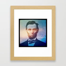 Stand Firm. Lincoln. 1809-1865. Framed Art Print