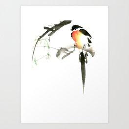 Chinese Shui-mo(水墨)- Bird Art Print
