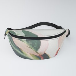 Pink Leaves III Fanny Pack
