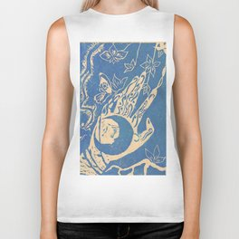 Show me how to live in blue Biker Tank