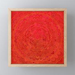 Fire Flower Mandala Framed Mini Art Print