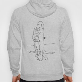 Dog and Cat Slowdancing Hoody