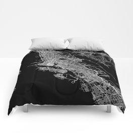 oakland map california Comforters