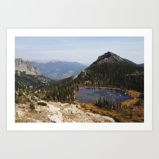 Rocky Mountain Lakes Art Print