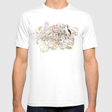 Fuck Patriarchy MEDIUM Mens Fitted Tee White