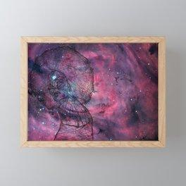 Gorgeous Groovy Galaxy Gal Framed Mini Art Print