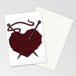 I Love Knitting | Wool Needle Heart Sewing Craft Stationery Cards