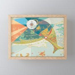 Adventure Map, The Treasure is in You Framed Mini Art Print
