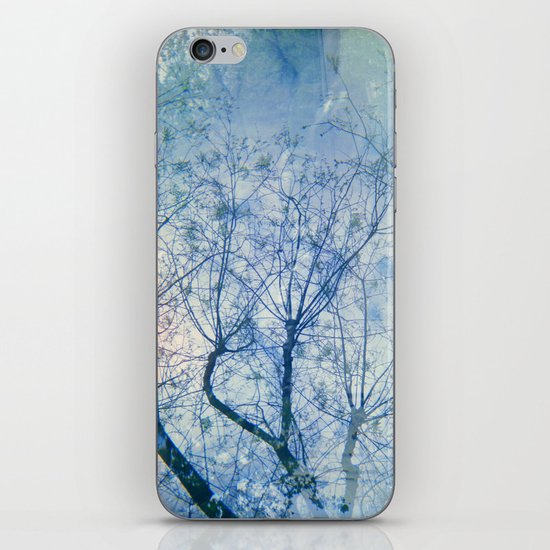 Blue Winter Blossoms  iPhone & iPod Skin