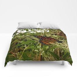 Feeding butterfly Comforters
