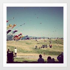 Berkeley's Flying Kites Art Print
