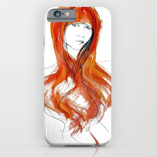 'Fringe' Fashion Illustration iPhone & iPod Case