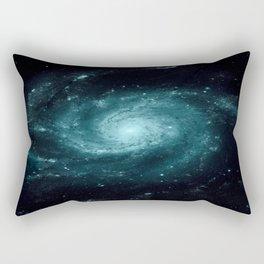 Spiral gALAxy Teal Rectangular Pillow
