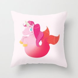 Unimermaid Throw Pillow