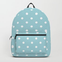 White Polkadot Spots on Wedding Garter Bue Backpack